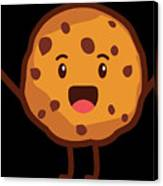 Cute Cookie For Cooke Lovers Men Women And Kids Canvas Print