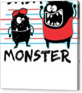 Dada Monster Cute Monster Cartoon For Kids And Dad Light Canvas Print