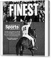 Daily News Back Page Canvas Print