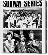 Daily News Front Page October 3, 1948 Canvas Print