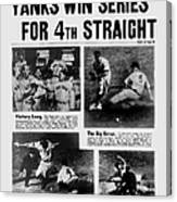 Daily News Front Page October 9, 1939 Canvas Print