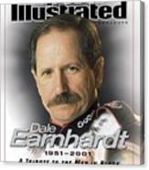 Dale Earnhardt, 1951 - 2001 A Tribute To The Man In Black Sports Illustrated Cover Canvas Print