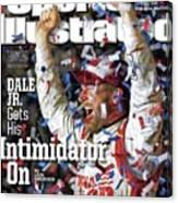Dale Jr. Gets His Intimidator On Sports Illustrated Cover Canvas Print