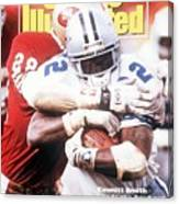 Dallas Cowboys Emmitt Smith, 1993 Nfc Championship Sports Illustrated Cover Canvas Print