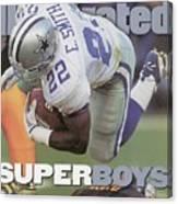 Dallas Cowboys Emmitt Smith, Super Bowl Xxx Sports Illustrated Cover Canvas Print