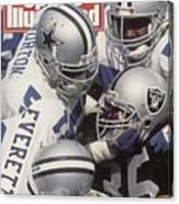 Dallas Cowboys Ken Norton Jr And Thomas Everett Sports Illustrated Cover Canvas Print