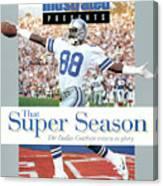 Dallas Cowboys Michael Irvin, Super Bowl Xxvii Sports Illustrated Cover Canvas Print