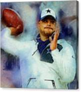 Dallas Cowboys.dak Prescott. Canvas Print