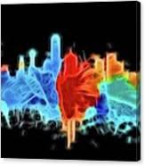Dallas Neon Color Blast Canvas Print