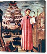 Dante And His Poem The Divine Comedy Canvas Print