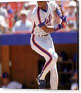 Darryl Strawberry Swings Canvas Print