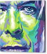 David Bowie Portrait In Aqua And Green Canvas Print