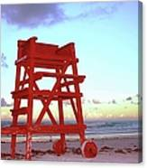Daytona Beach Lifeguard Stand At Canvas Print