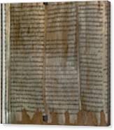 Dead Sea Scroll Canvas Print