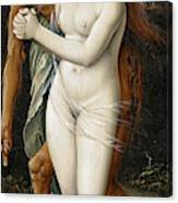 Death And The Maiden, 1517 Canvas Print