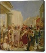 Death Of Virginia Study Canvas Print