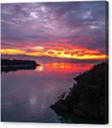 Deception Pass Sunset Landscape Canvas Print