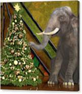 Decorating The Perfect Tree Canvas Print