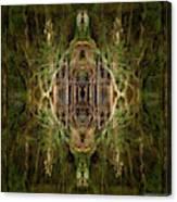Deep Jungle Temple With Lanterns Canvas Print