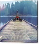 Deep Lake Dock  Canvas Print