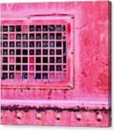 Deep Pink Train Engine Vent Canvas Print