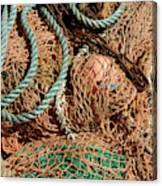 Deep Sea Fishing Nets And Buoys Canvas Print