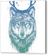 Deer Wolf Canvas Print