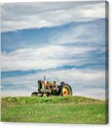 Deere On The Hill Canvas Print