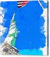 Defending Liberty Watercolor By Ahmet Asar Canvas Print