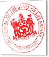 Delaware Seal Stamp Canvas Print