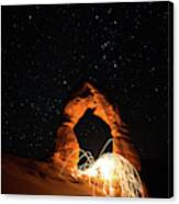 Delicate Arch Steel Wool Canvas Print