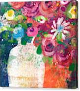 Delightful Bouquet 2- Art By Linda Woods Canvas Print