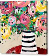 Delightful Bouquet 5- Art By Linda Woods Canvas Print