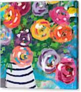 Delightful Bouquet 6- Art By Linda Woods Canvas Print