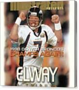 Denver Broncos Qb John Elway, Super Bowl Xxxiii Champions Sports Illustrated Cover Canvas Print