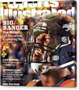 Denver Broncos Von Miller, 2016 Nfl Football Preview Issue Sports Illustrated Cover Canvas Print