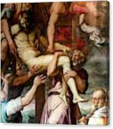 Deposition From The Cross Canvas Print