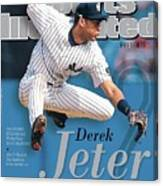 Derek Jeter A Tribute To The Captain Sports Illustrated Cover Canvas Print