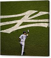 Derek Jeter Walks To The Plate Canvas Print