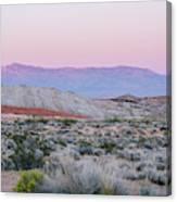Desert On Fire No.1 Canvas Print