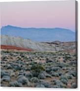 Desert On Fire No.2 Canvas Print