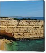 Deserta Beach Scene In Algarve Canvas Print