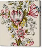 Design For Sprays Of Flowers Canvas Print
