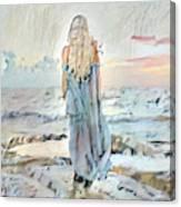 Desolate Or Contemplative Canvas Print