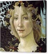 Detail From The Primavera, Circa 1478, Tempera On Panel Canvas Print