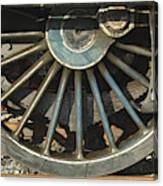 Detail Of Locomotive Wheel With Spokes Canvas Print