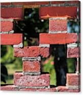 Details Of A Red Brick Wall With Pattern Canvas Print