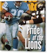 Detroit Lions Barry Sanders... Sports Illustrated Cover Canvas Print
