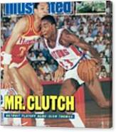 Detroit Pistons Isiah Thomas, 1987 Nba Eastern Conference Sports Illustrated Cover Canvas Print