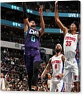 Detroit Pistons V Charlotte Hornets Canvas Print